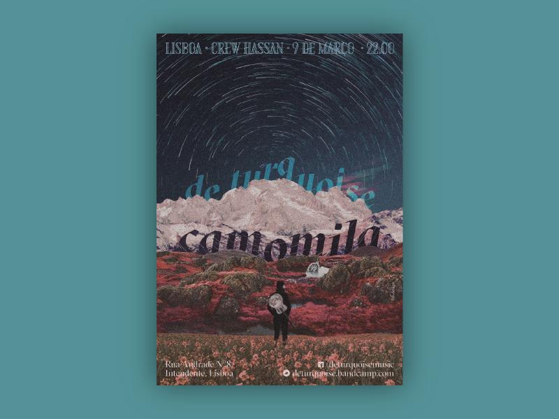 De Turquoise's Camomila concert poster