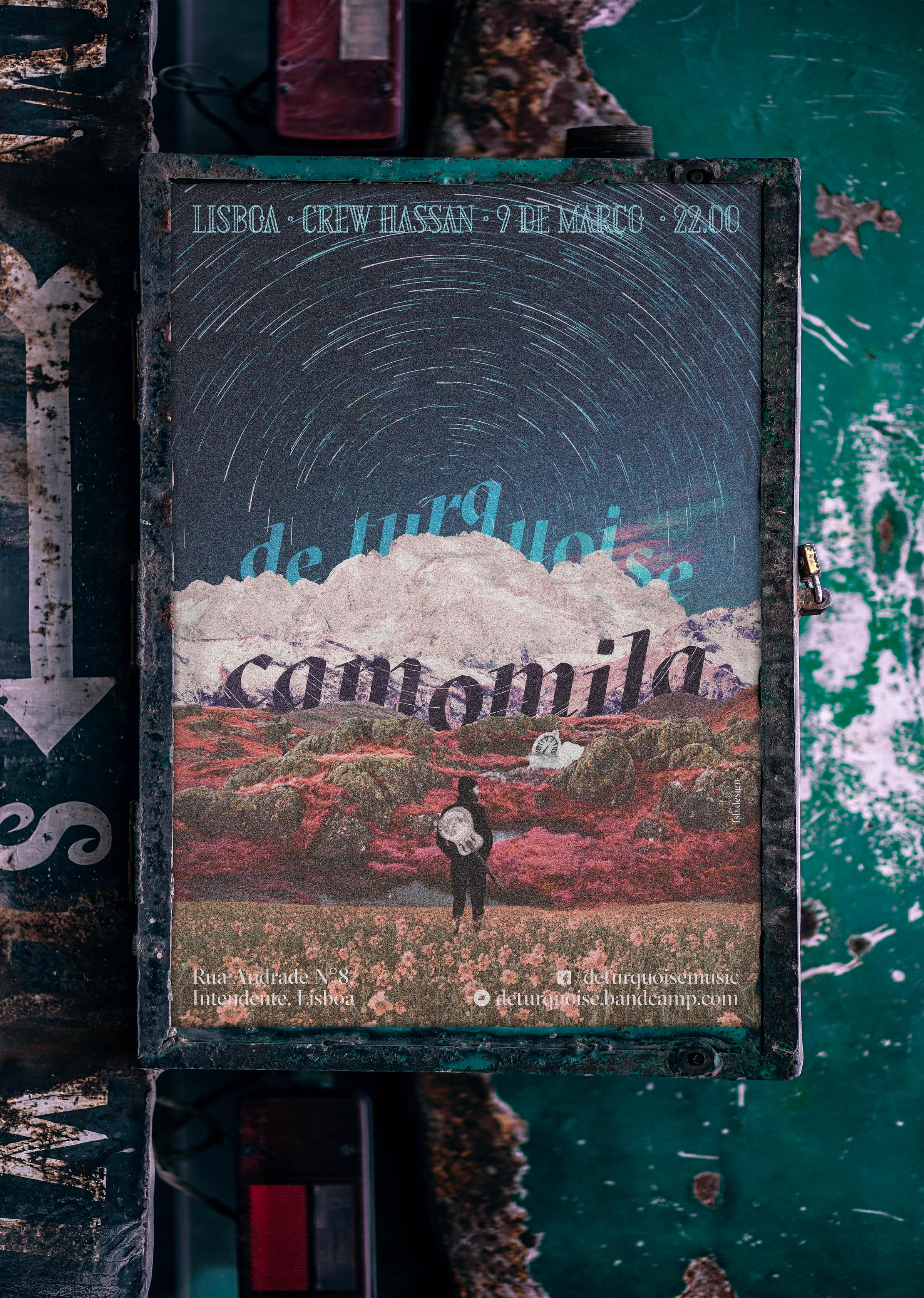 "De Turquoise's ""Camomila"" concert poster"