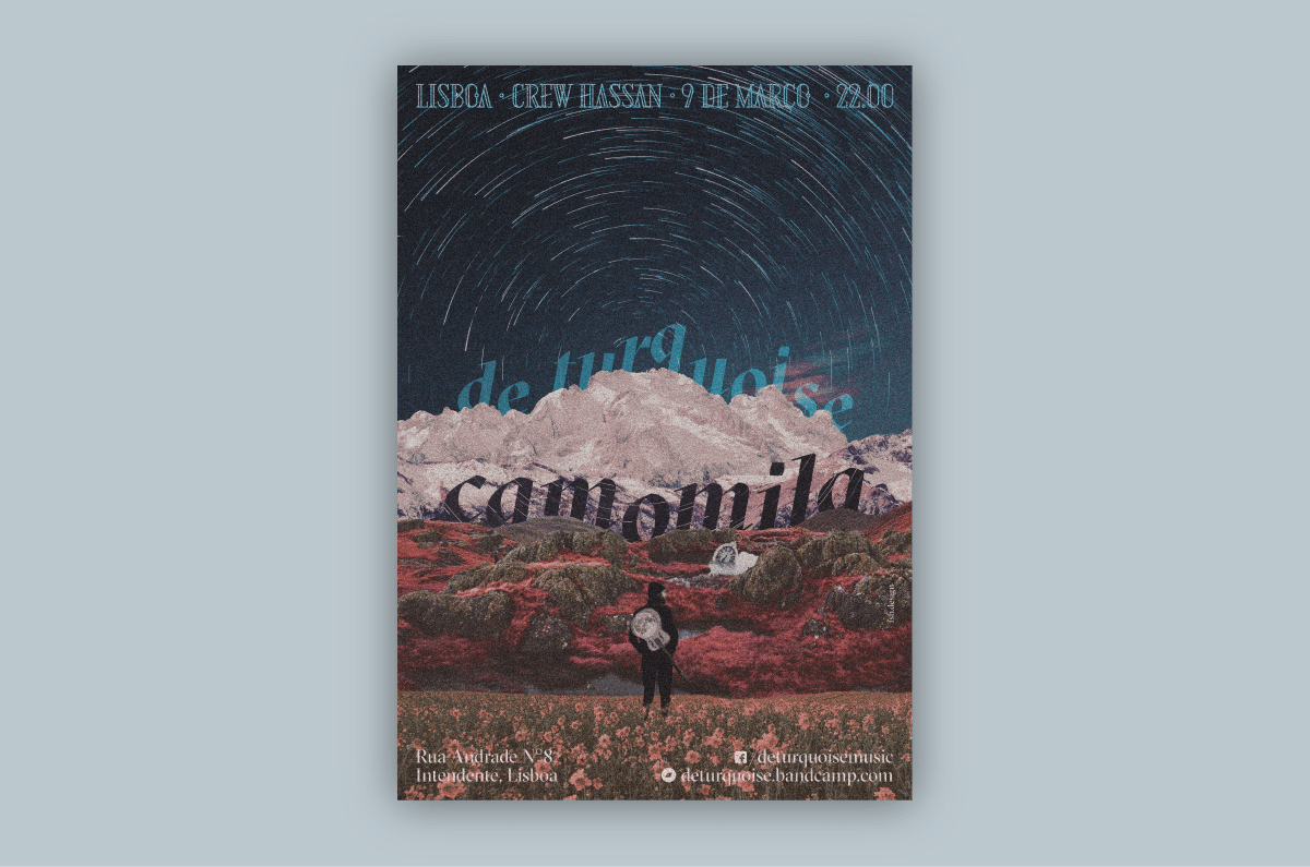 De Turquoise's Camomila Concert poster