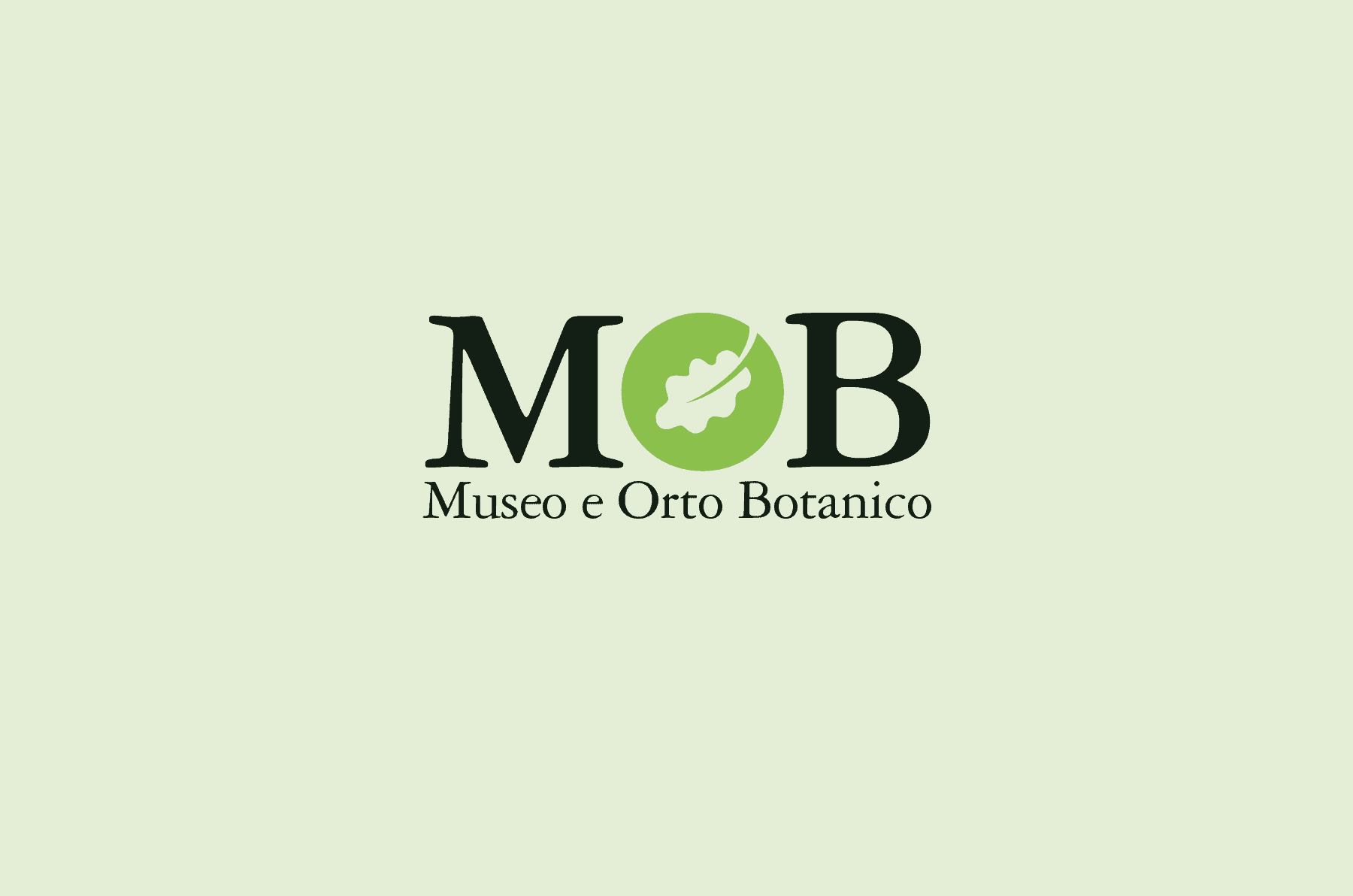 Logo for the MOB Museo e Orto Botanico di Pisa (Bothanical Garden and Museum of Pisa)