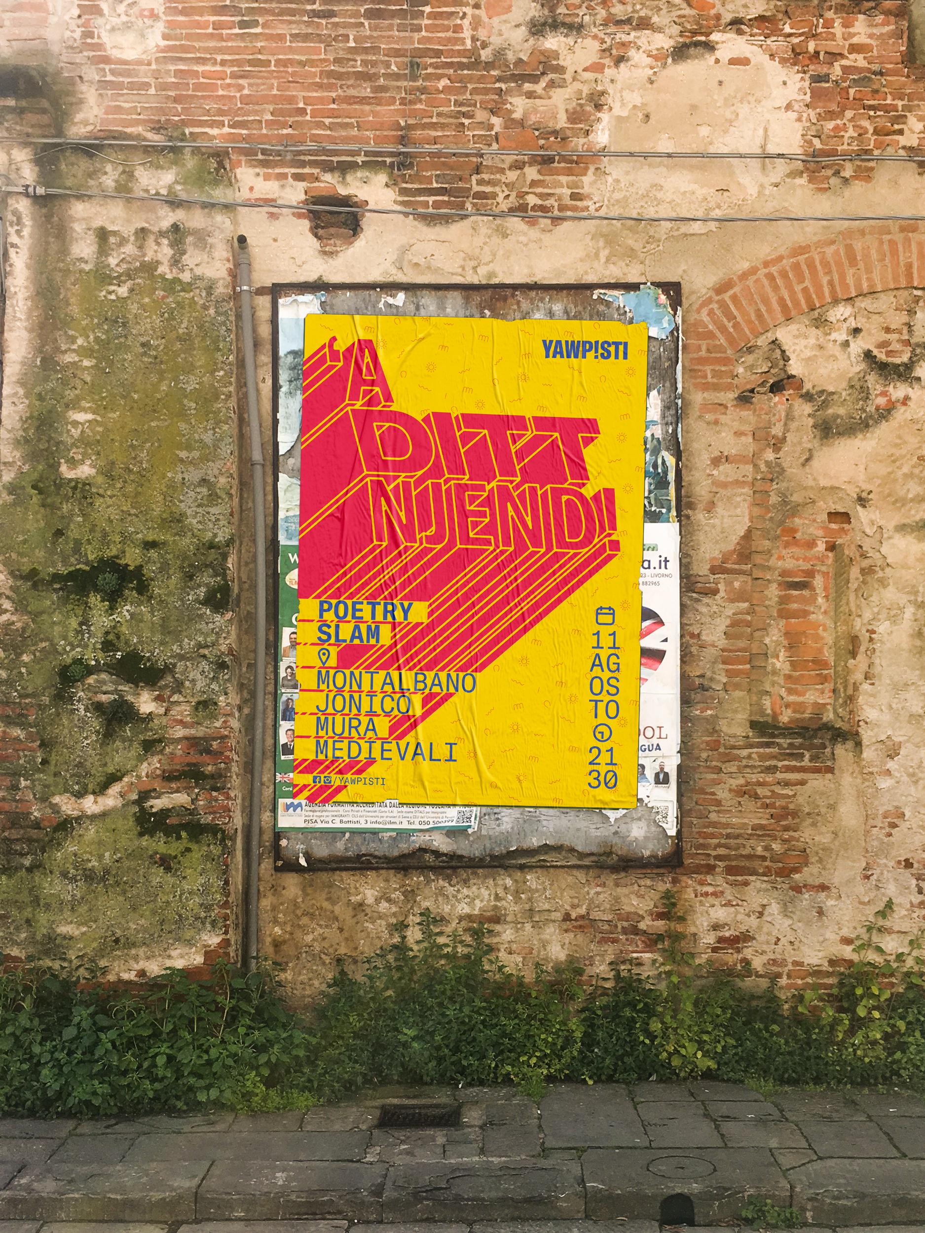 'A Ditt Njend! Poetry Slam poster
