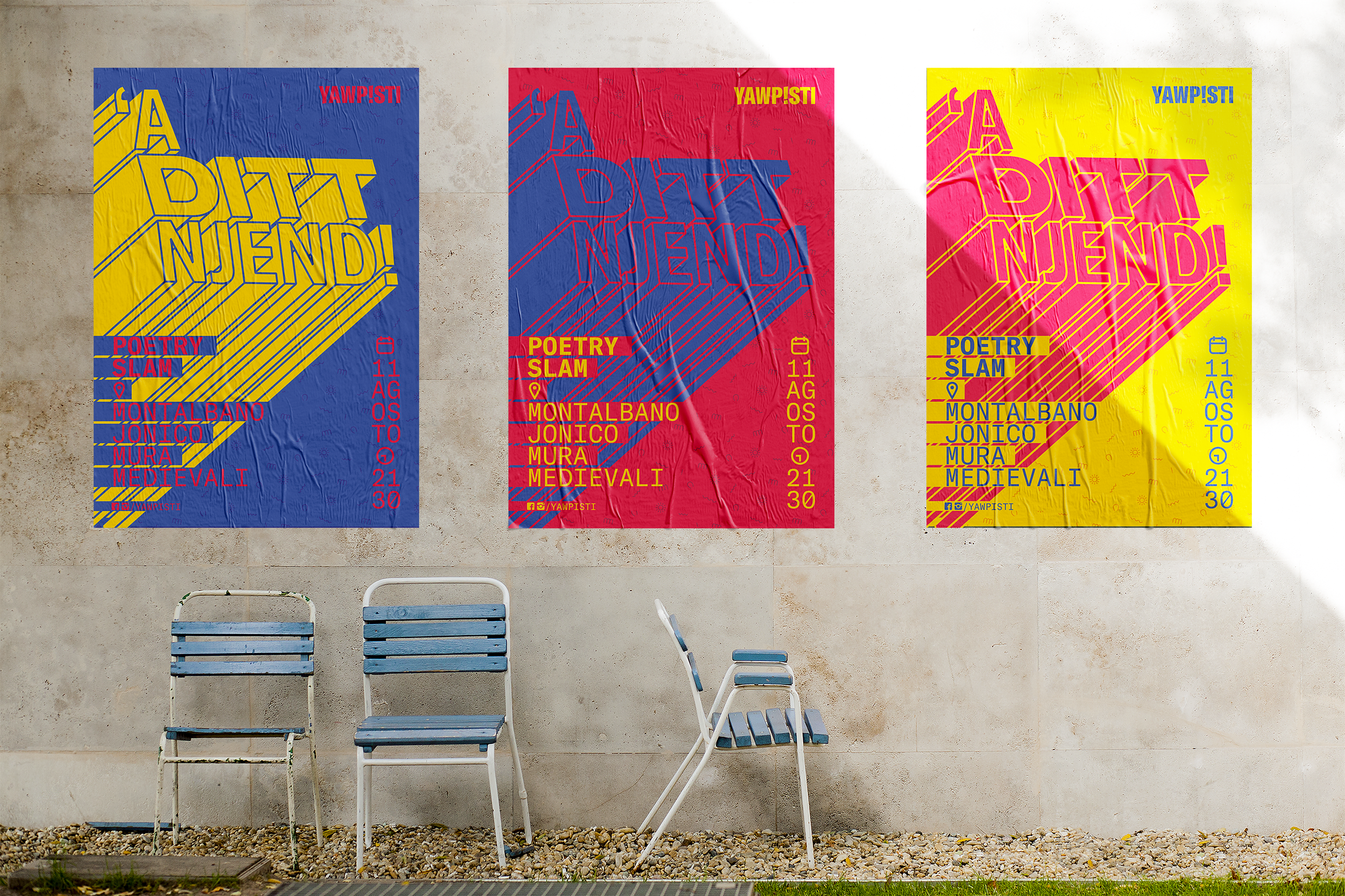 'A Ditt Njend! Poetry Slam posters