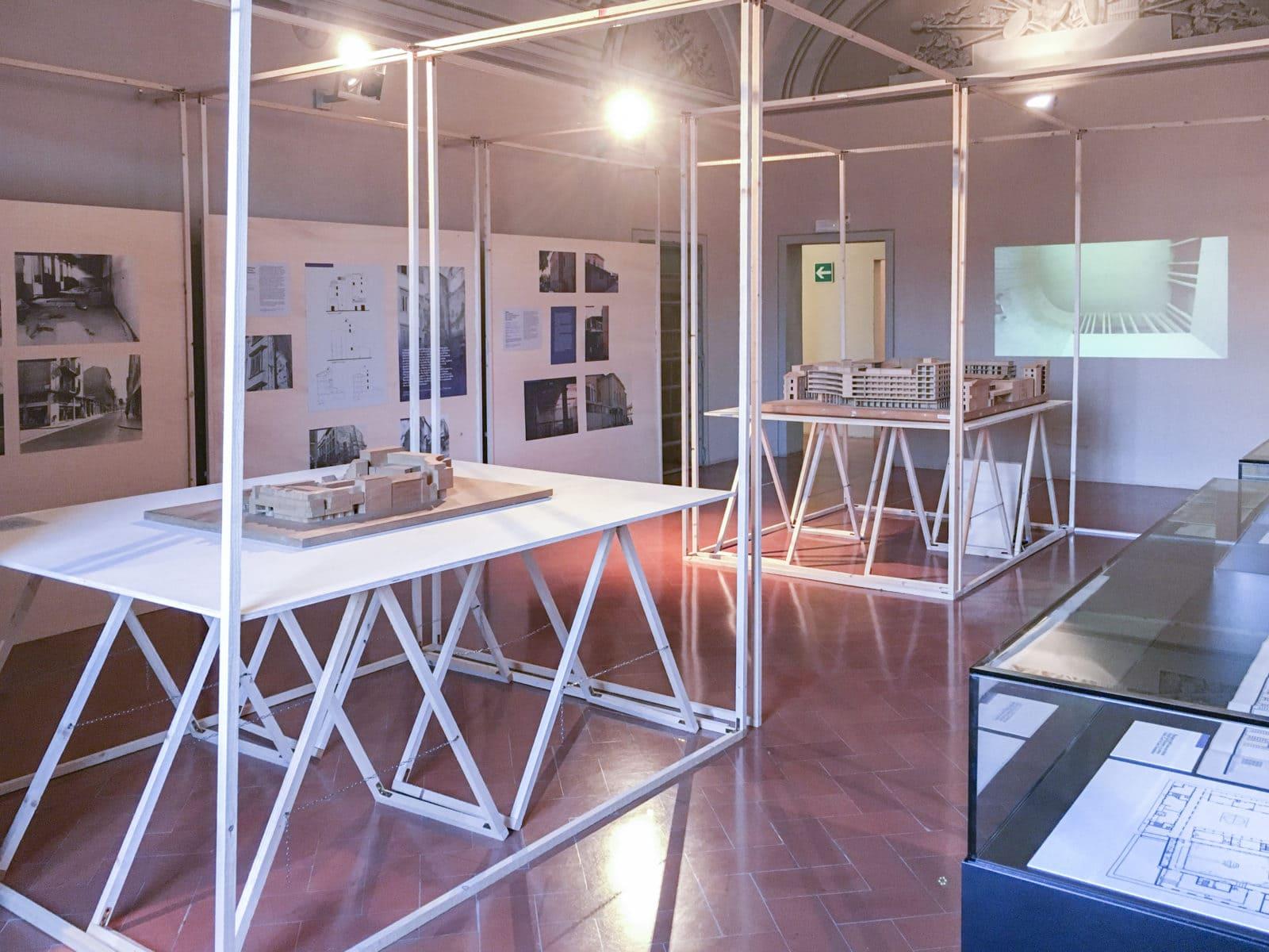 Roberto Mariani Architetto exhibition setup