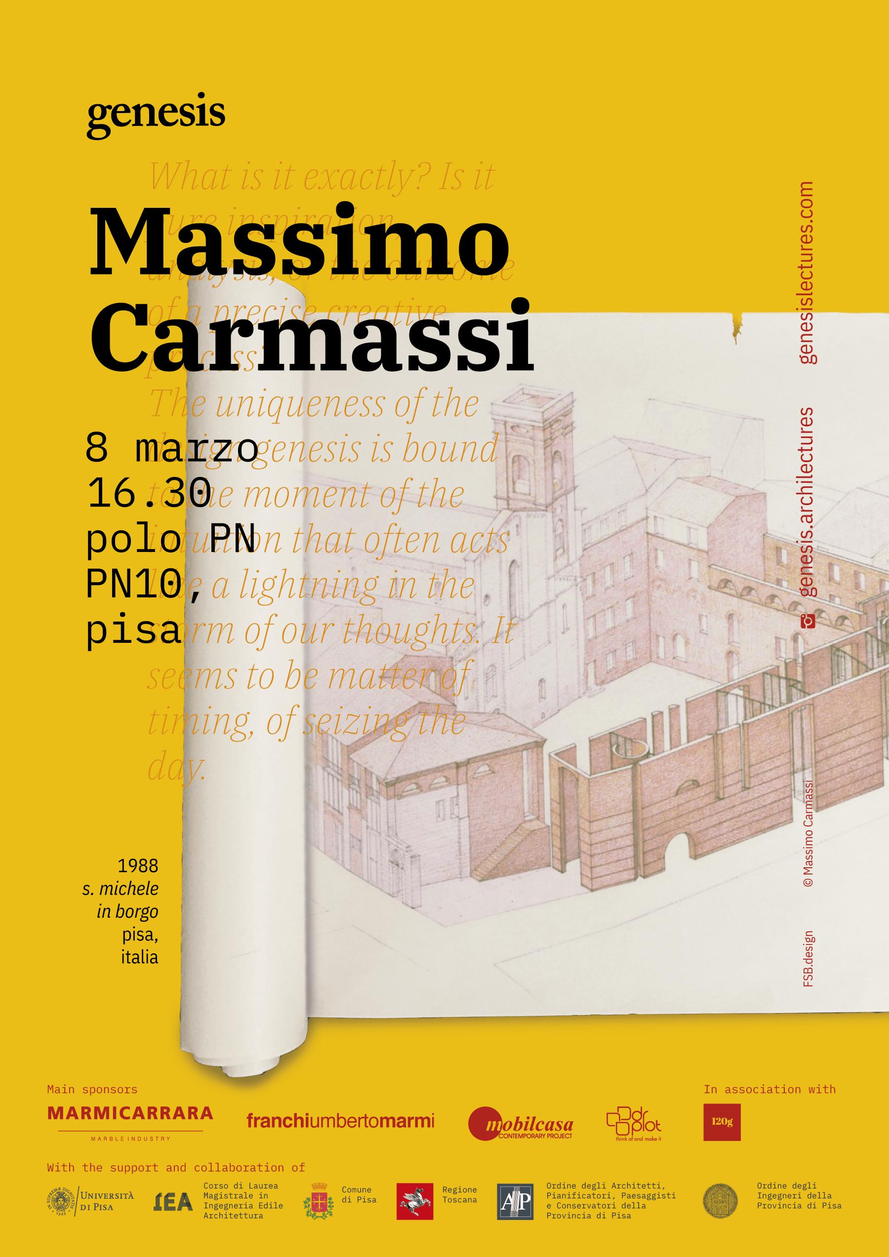 Massimo Carmassi at Genesis Lectures 2019