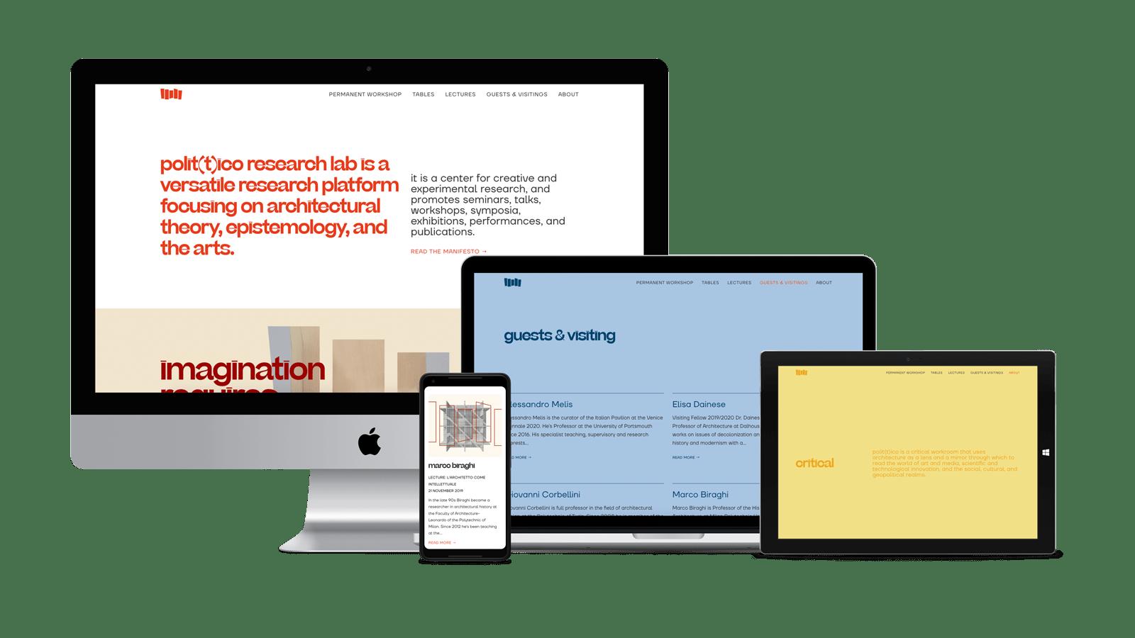 Polittico Research Lab website