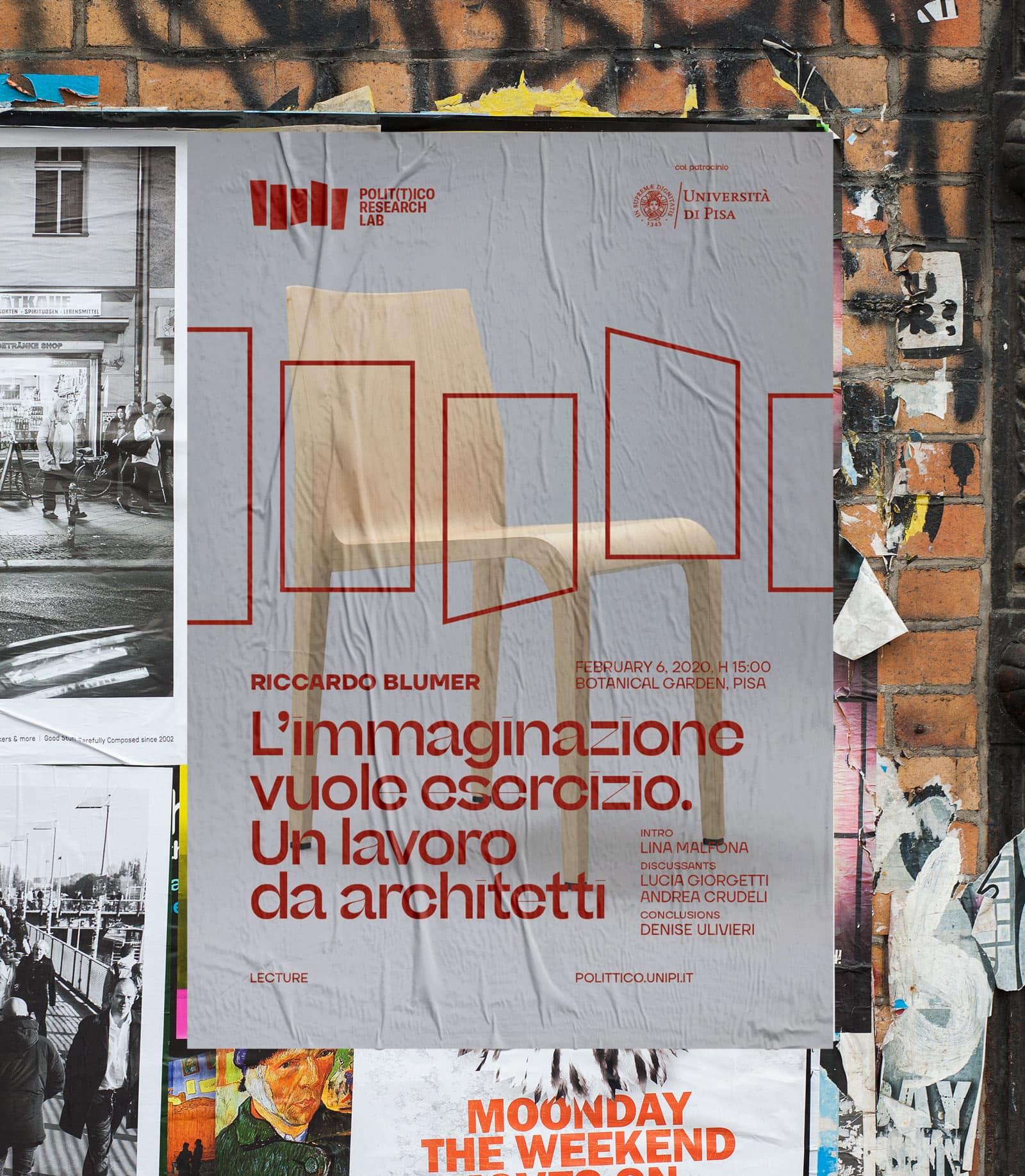 Polittico Research Lab poster / Riccardo Blumer